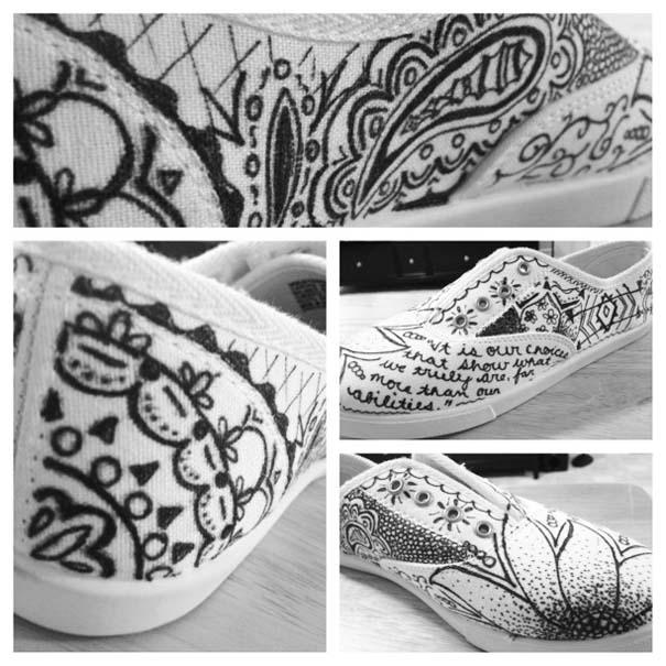 Παπούτσια διακοσμημένα με μαρκαδόρο (9)