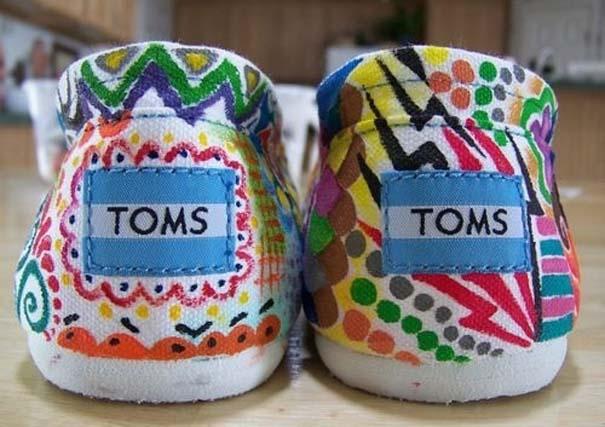 Παπούτσια διακοσμημένα με μαρκαδόρο (14)