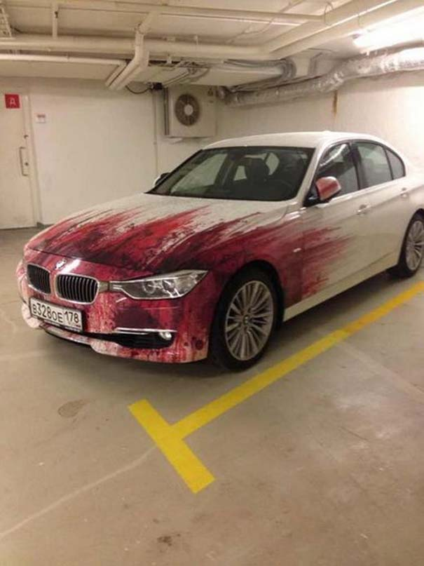 Περίεργη αερογραφία σε BMW (2)