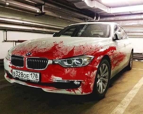Περίεργη αερογραφία σε BMW (3)