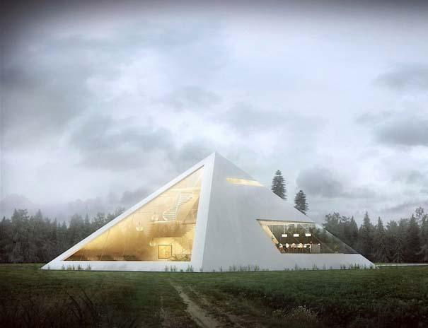 Σπίτι σε σχήμα πυραμίδας (2)