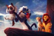 Η grumpy cat ως διάφοροι χαρακτήρες της Disney (3)