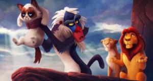 Η «grumpy cat» ως διάφοροι χαρακτήρες της Disney
