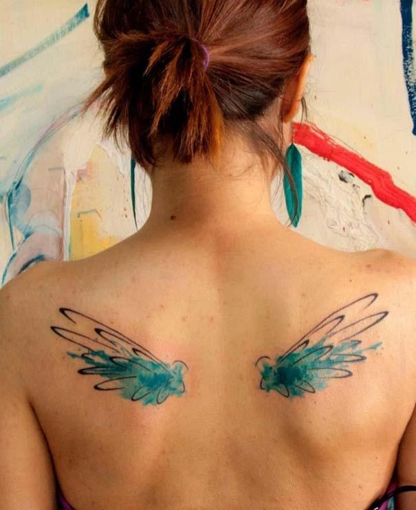 Καλλιτεχνικά τατουάζ που μοιάζουν με υδατογραφίες (9)