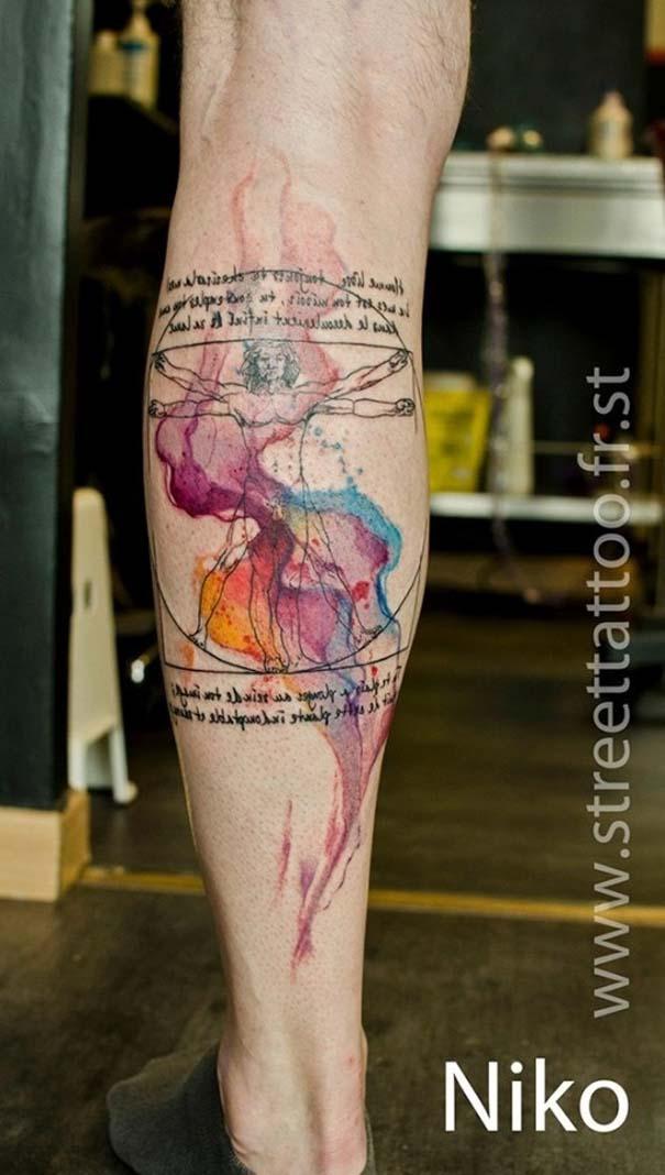 Καλλιτεχνικά τατουάζ που μοιάζουν με υδατογραφίες (10)
