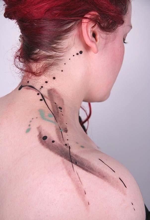 Καλλιτεχνικά τατουάζ που μοιάζουν με υδατογραφίες (15)
