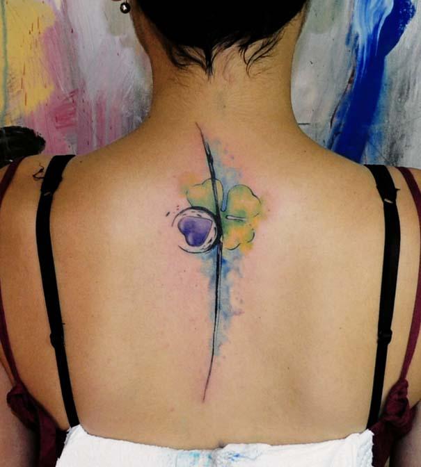 Καλλιτεχνικά τατουάζ που μοιάζουν με υδατογραφίες (21)