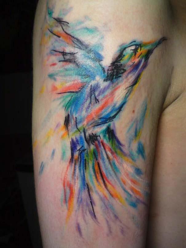 Καλλιτεχνικά τατουάζ που μοιάζουν με υδατογραφίες (23)