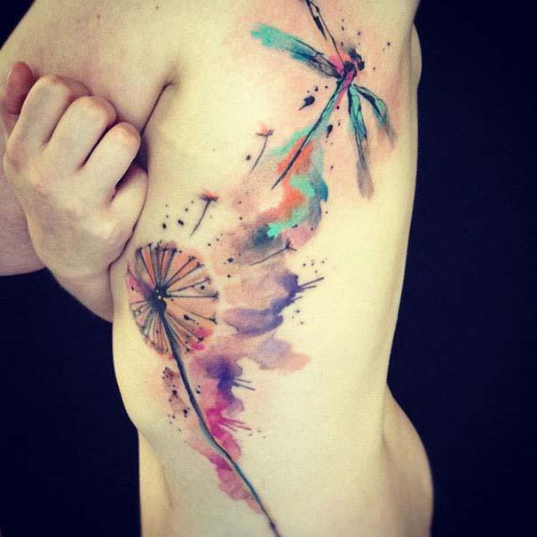 Καλλιτεχνικά τατουάζ που μοιάζουν με υδατογραφίες (34)