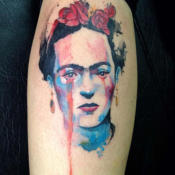Καλλιτεχνικά τατουάζ που μοιάζουν με υδατογραφίες (38)