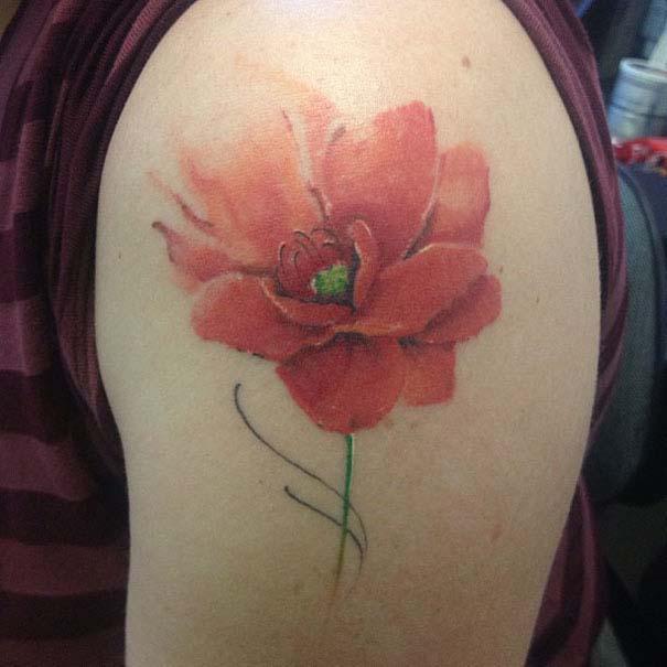 Καλλιτεχνικά τατουάζ που μοιάζουν με υδατογραφίες (39)