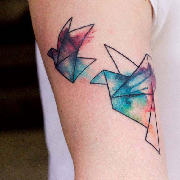 Καλλιτεχνικά τατουάζ που μοιάζουν με υδατογραφίες (42)