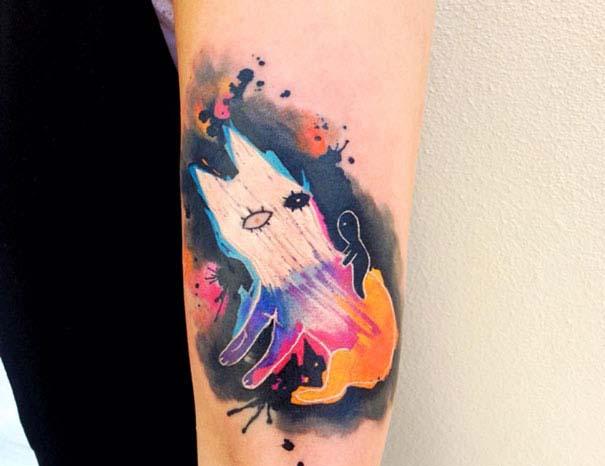 Καλλιτεχνικά τατουάζ που μοιάζουν με υδατογραφίες (46)
