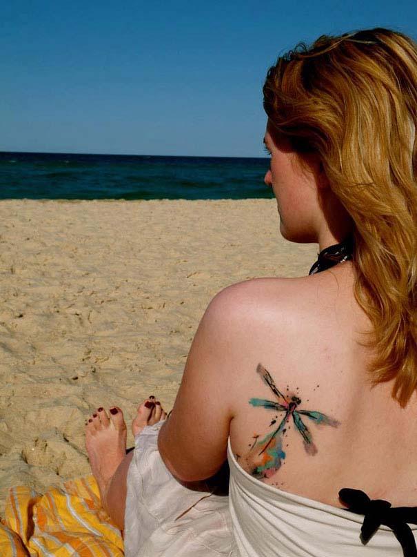 Καλλιτεχνικά τατουάζ που μοιάζουν με υδατογραφίες (47)