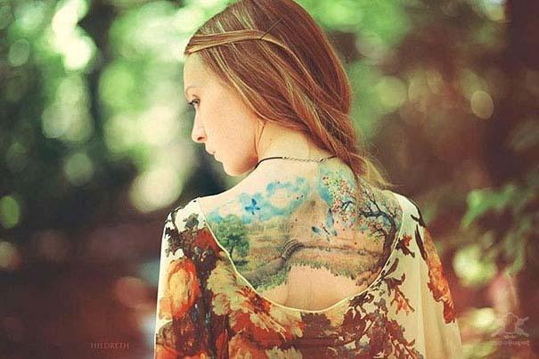 Καλλιτεχνικά τατουάζ που μοιάζουν με υδατογραφίες (48)