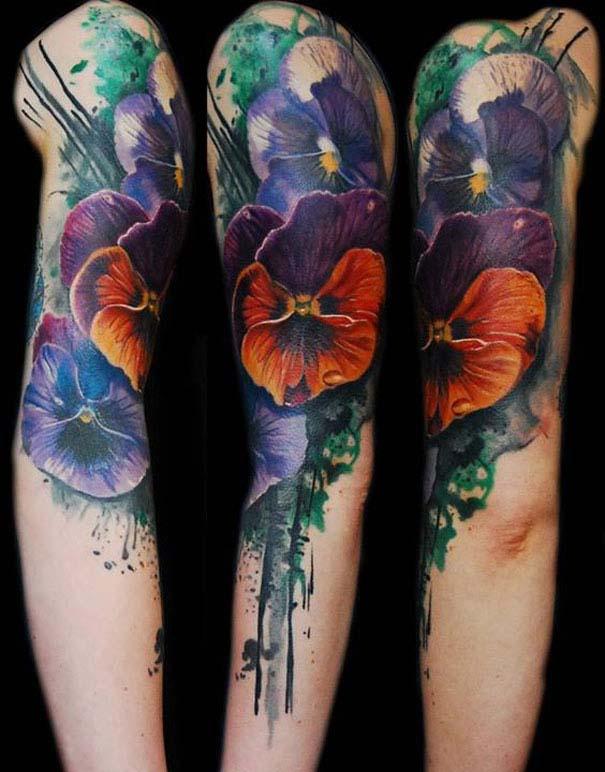 Καλλιτεχνικά τατουάζ που μοιάζουν με υδατογραφίες (50)