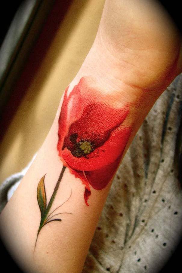 Καλλιτεχνικά τατουάζ που μοιάζουν με υδατογραφίες (51)