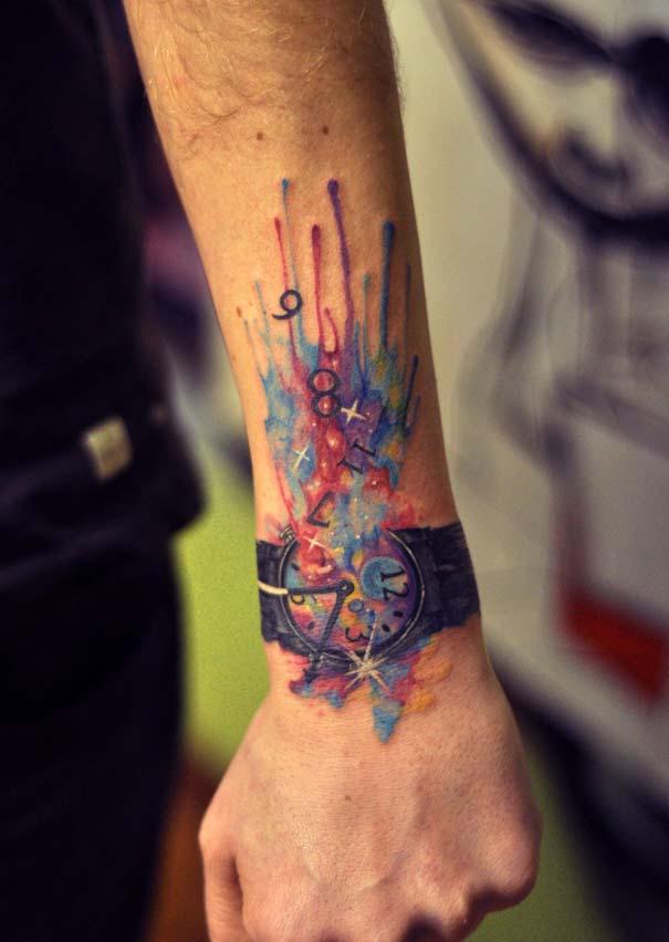 Καλλιτεχνικά τατουάζ που μοιάζουν με υδατογραφίες (52)