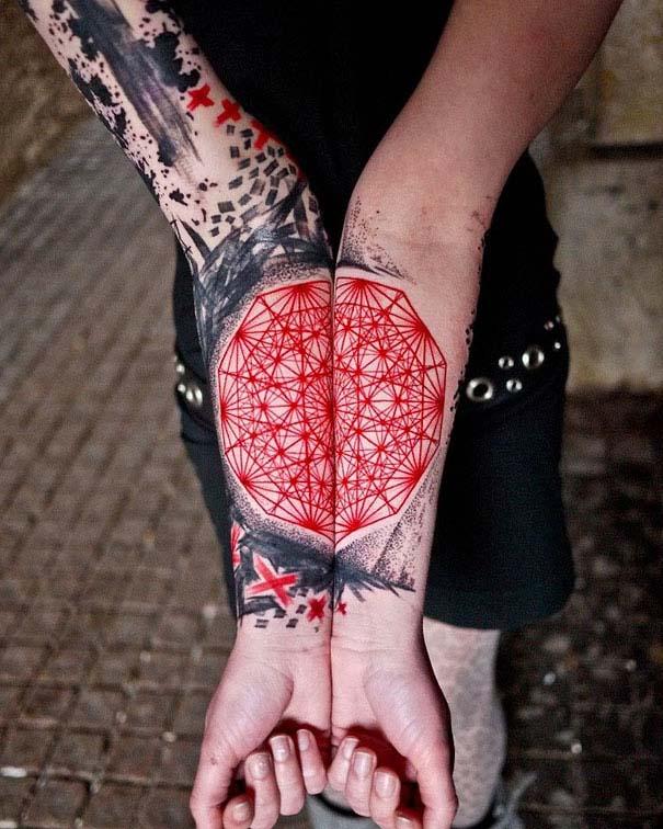 Καλλιτεχνικά τατουάζ που μοιάζουν με υδατογραφίες (53)