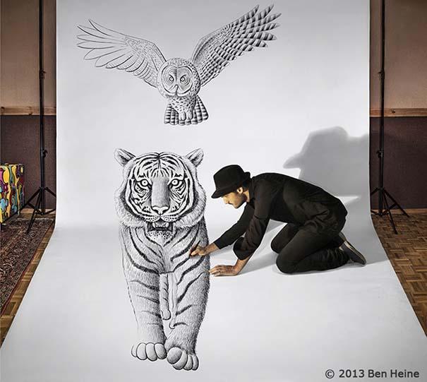 Καλλιτέχνης ποζάρει με τα απίστευτα 3D έργα του (2)