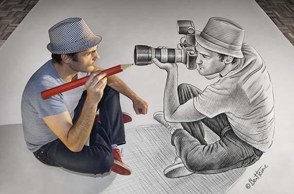 Καλλιτέχνης ποζάρει με τα απίστευτα 3D έργα του (10)