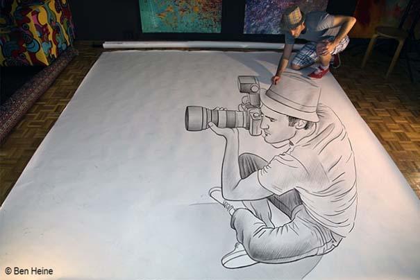 Καλλιτέχνης ποζάρει με τα απίστευτα 3D έργα του (8)