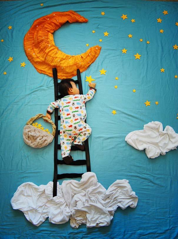Μητέρα μετατρέπει τον ύπνο του μωρού της σε φανταστικές περιπέτειες (1)