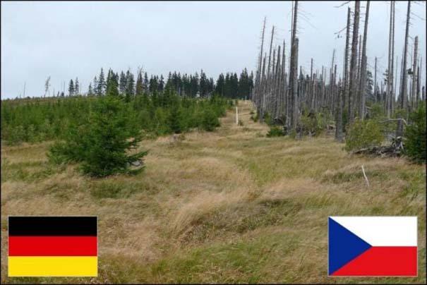 Μοναδικά και περίεργα σύνορα χωρών (9)