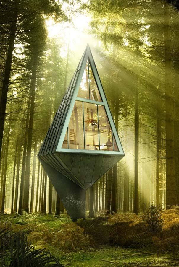 Μοντέρνα οικολογικά σπίτια στην καρδιά του δάσους (2)