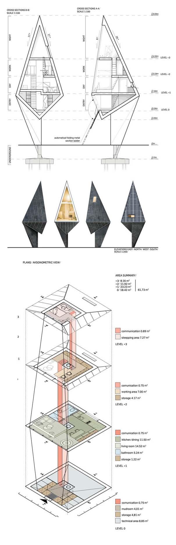 Μοντέρνα οικολογικά σπίτια στην καρδιά του δάσους (9)