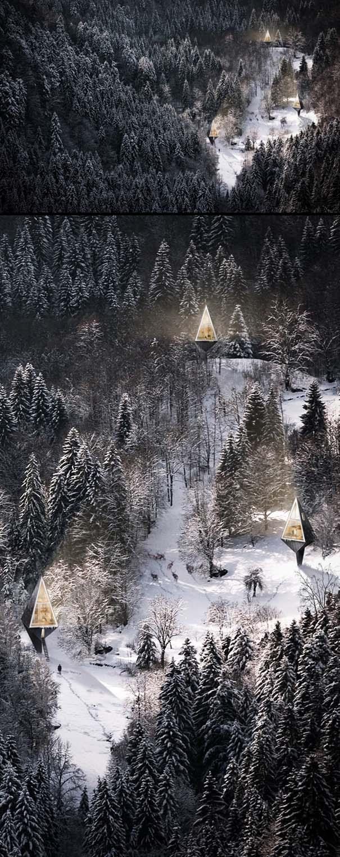 Μοντέρνα οικολογικά σπίτια στην καρδιά του δάσους (5)