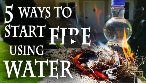 Πως να ανάψετε μια φωτιά χρησιμοποιώντας... νερό