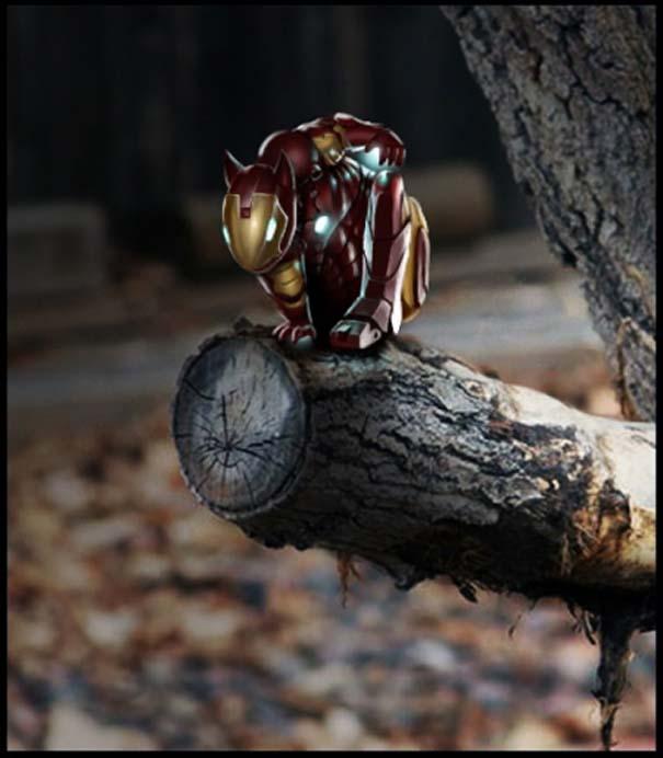 Σκίουρος γίνεται πρωταγωνιστής σε σειρά φωτογραφιών με Photoshop (2)