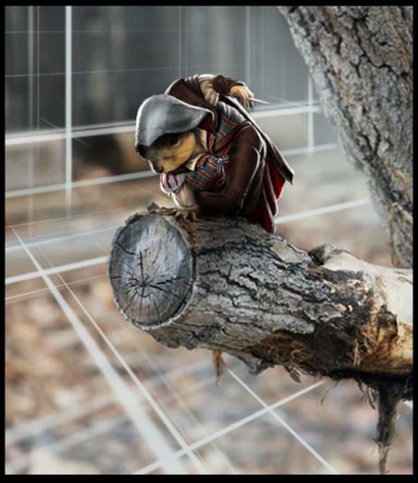 Σκίουρος γίνεται πρωταγωνιστής σε σειρά φωτογραφιών με Photoshop (6)