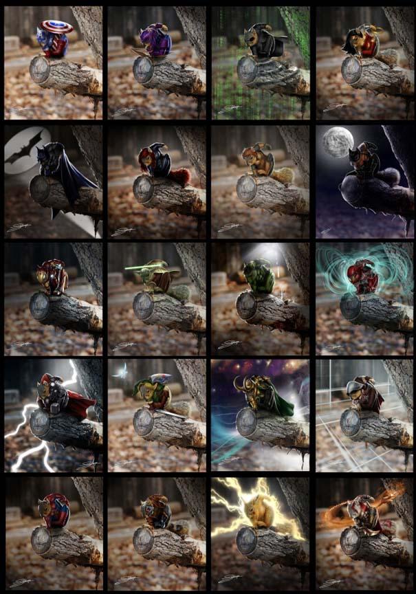 Σκίουρος γίνεται πρωταγωνιστής σε σειρά φωτογραφιών με Photoshop (9)