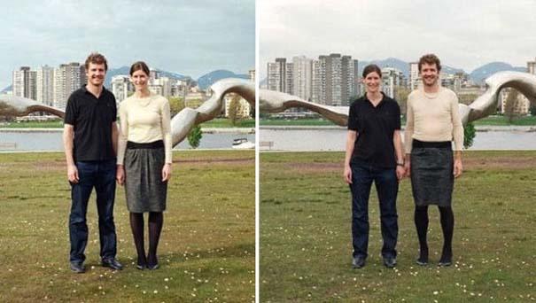 Ζευγάρια φωτογραφίζονται ανταλλάσσοντας τα ρούχα τους (3)