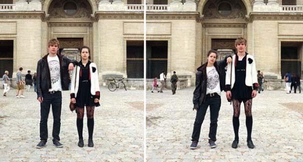 Ζευγάρια φωτογραφίζονται ανταλλάσσοντας τα ρούχα τους (4)