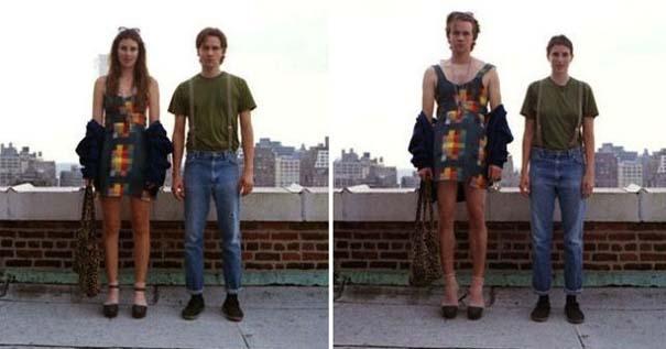 Ζευγάρια φωτογραφίζονται ανταλλάσσοντας τα ρούχα τους (6)