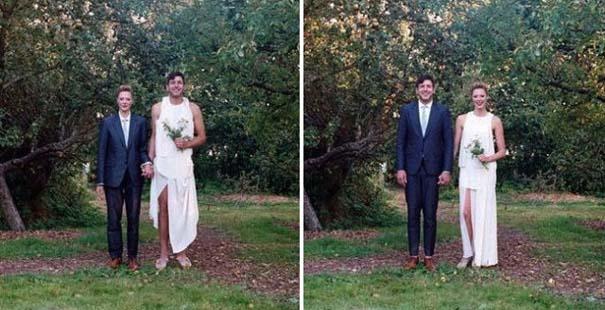 Ζευγάρια φωτογραφίζονται ανταλλάσσοντας τα ρούχα τους (7)