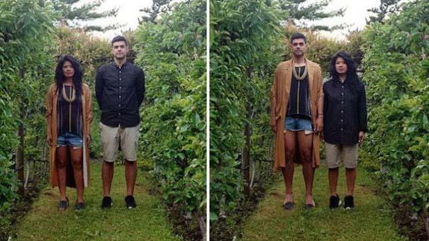 Ζευγάρια φωτογραφίζονται ανταλλάσσοντας τα ρούχα τους (9)