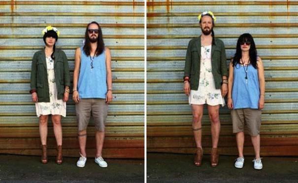 Ζευγάρια φωτογραφίζονται ανταλλάσσοντας τα ρούχα τους (12)