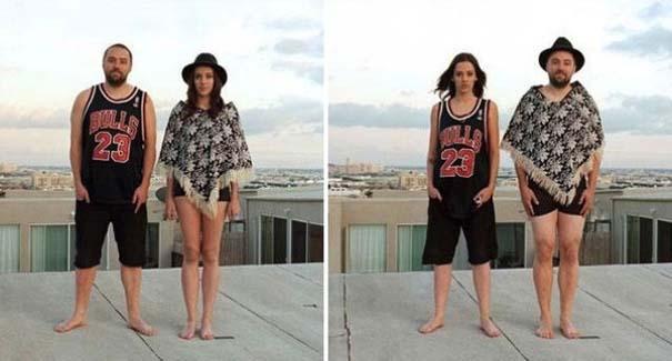 Ζευγάρια φωτογραφίζονται ανταλλάσσοντας τα ρούχα τους (13)