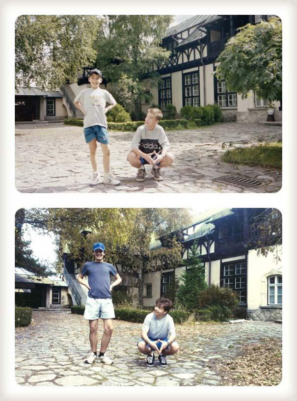 20 χρόνια μετά: Δυο αδέρφια δημιουργούν εκ νέου τις παιδικές τους φωτογραφίες (1)