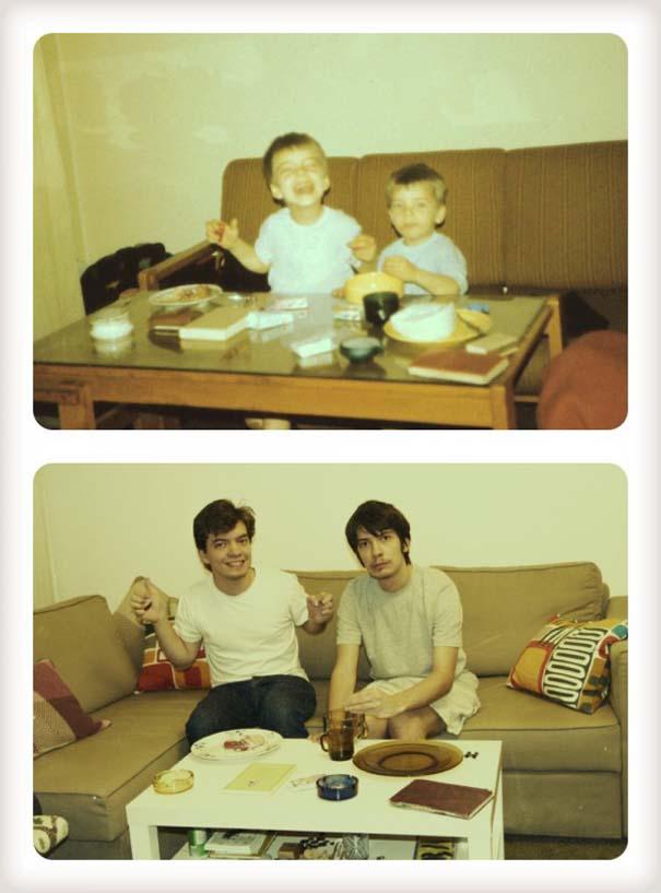 20 χρόνια μετά: Δυο αδέρφια δημιουργούν εκ νέου τις παιδικές τους φωτογραφίες (2)