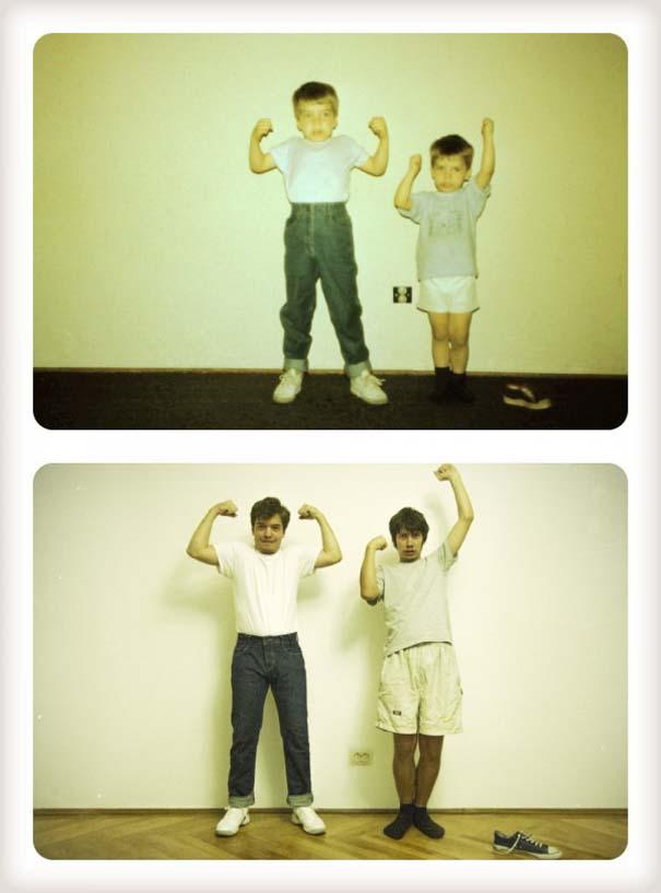 20 χρόνια μετά: Δυο αδέρφια δημιουργούν εκ νέου τις παιδικές τους φωτογραφίες (7)