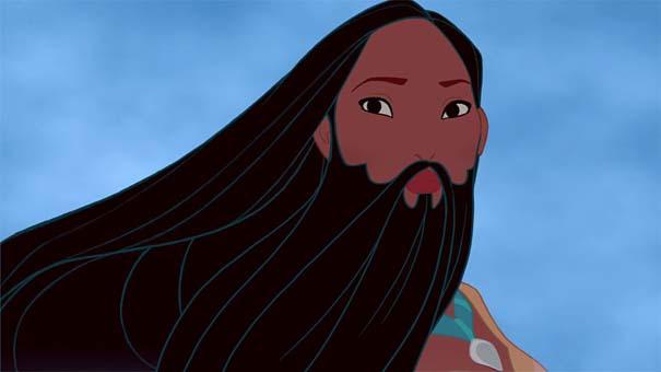 Αν οι πριγκίπισσες της Disney είχαν μούσια (3)