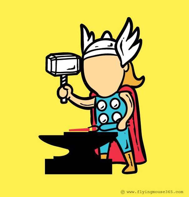 Αν οι σούπερ ήρωες είχαν κανονικές δουλειές (2)