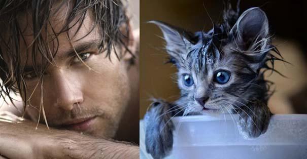 Άνδρες και γάτες στις ίδιες πόζες (9)