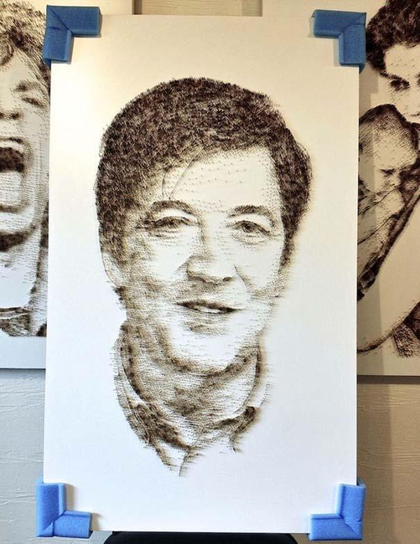 Απίστευτα πορτραίτα από χιλιάδες καρφιά (7)