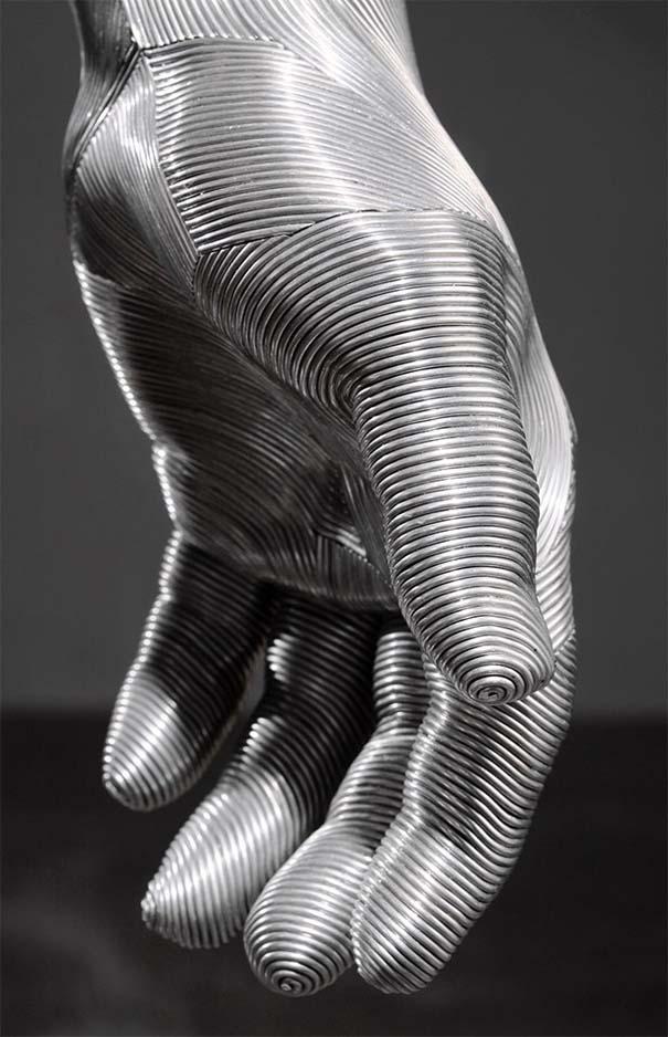 Εκπληκτικά γλυπτά από σύρμα αλουμινίου (7)